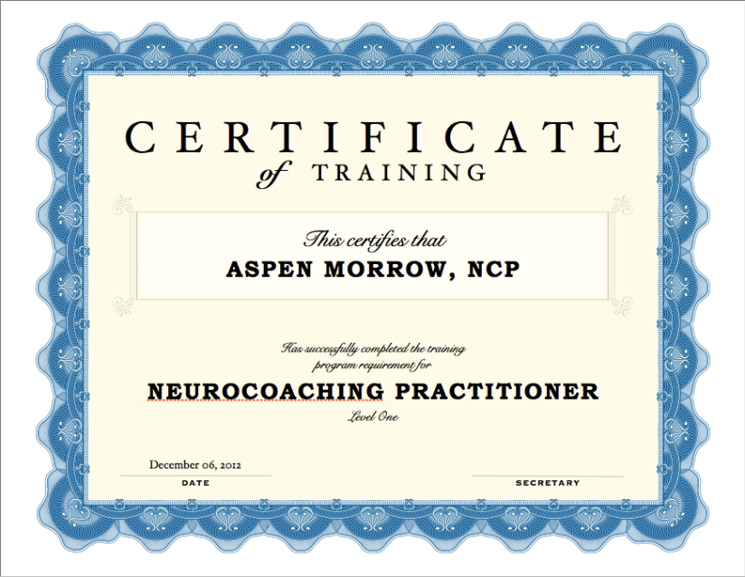 Neurocoaching Practitioner Certificate
